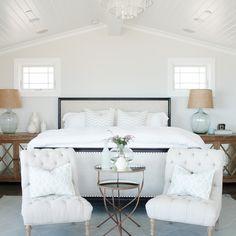 Beautiful modern coastal bedroom designed by Owens + Davis