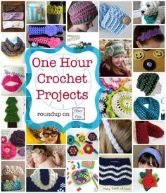 37 One Hour Project crochet patterns - STOP searching and START making