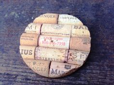 Set of 4 Wine Cork Coasters by BlueIndianCC on Etsy, $20.00