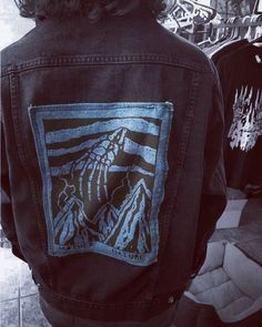 Denim back patches. I only made 5 of these as a test. I'll make some more...
