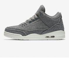 wholesale dealer 71a6b 99880 Air Jordan 3 Retro Wool - Dark Grey Chaussures De Basket Ball, Chaussures  Grises,