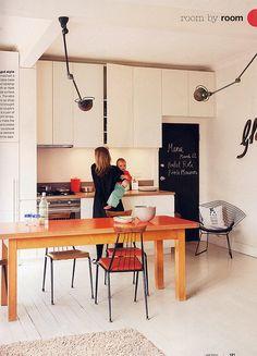 Küche im Retro Stil! Die Stühle verleihen der Küche eine Retro ...
