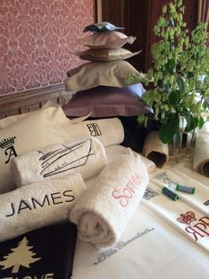 Frette will embroider custom monograms for any name, place and occasion.
