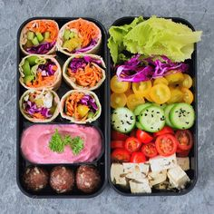 "10k Likes, 221 Comments - Ela Vegan 🌱 (@elavegan) on Instagram: ""Hi guys, I hope you had a good start into the new week. Here you can see a bento box which I made a…"""