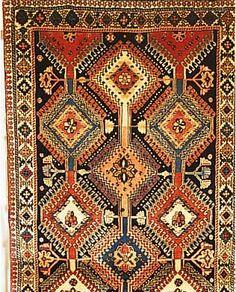 Yalameh,Persien ca 177 x 82 cm. Wolle auf Wolle.