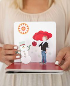Holiday pop-up book printables from A Hip Handmade Holiday