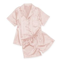 bebe6f43c540d Women s Personalized Satin Pajama Sleepwear Set - Pink Blush - The Knot Shop  Wedding Gifts For