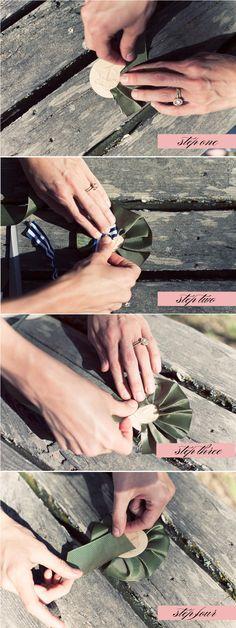DIY Ribbon Medallions by Posh Paperie + Jackie Wonders Cute Wedding Dress, Fall Wedding Dresses, Colored Wedding Dresses, Perfect Wedding, Diy Wedding, Wedding Events, Dream Wedding, Wedding Day, Wedding Story
