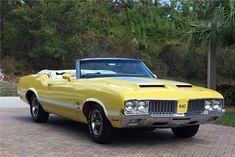Available* at Palm Beach 2019 - Lot #747 1970 OLDSMOBILE 442 W-30 CONVERTIBLE Gm Car, Las Vegas Blvd, Buick Skylark, Yellow Car, Barrett Jackson Auction, Oldsmobile Cutlass, Car Colors, Collector Cars, Gto