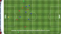 Ejercicios de fútbol - 5 jugadores + 1 portero contra 6 jugadores + 2 ne...