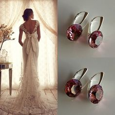 Bridal Earrings made with Swarovski Elements