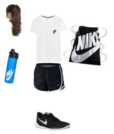 p.e. 7th grade by kaileyknaak on Polyvore featuring polyvore fashion style NIKE clothing