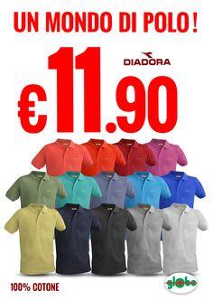 Super Offerta! Polo Diadora Uomo/Donna a solo € 11.90  Scegli il colore della tua estate!!