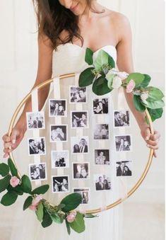 diy Wedding Crafts: Hanging Floral Photo Hoop – www.diyweddingsma… diy Wedding Crafts: Hanging Floral Photo Hoop – www. Dream Wedding, Wedding Day, Trendy Wedding, Wedding Rustic, Wedding Vintage, Wedding Rings, Vintage Diy, Floral Wedding, Wedding Flowers