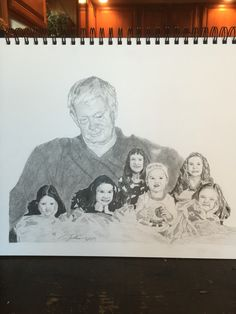 Last #commission of the year. This is for a coworker whose father passed away before any of his grandchildren were born. He wanted me to have his father watching over the grandchildren. #sulbone #art #artist #draw #drawing #sketch #sketchbook #pencil #family