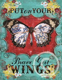BRAVE GIRL WINGS by melody ross