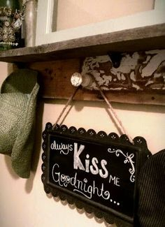 Through My Creative Mind Blog...My bedroom chalkboard
