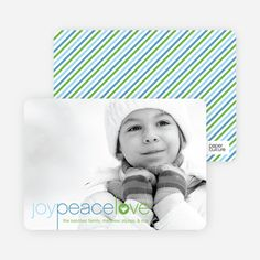 Joy Peace Love Christmas and Holiday Cards from Paper Culture