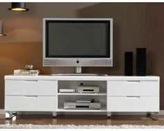 White Modern TV Stand by Dupen 759.00