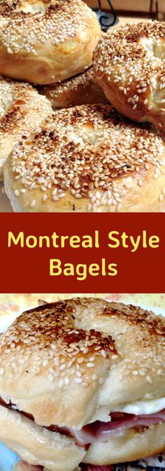 This delicious recipe has been generously shared by one of our great cooks, Carina. Montreal Style Bagels differ from the well known New York Style ones in various ways. Montreal Bagels are generally smaller Montreal Bagels Recipe, Homemade Bagels, Bread Machine Recipes, Bread Recipes, Bread Baking, Bread Food, Brunch Recipes, Food Inspiration, Yummy Food