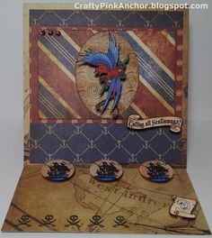 Parrot Easel Card - Bombshell Stamps