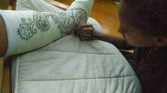 henna cast art - courtesy of my daughter! Ankle Cast, Arm Cast, Cast Art, Custom Boots, Henna Designs, To My Daughter, Broken Foot, Album, Crafty