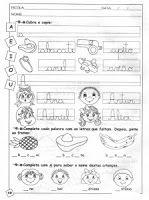ATIVIDADES COM A VOGAL A - BAIXE EM PDF - SÓ ESCOLA
