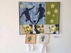 Meu trabalho, FUTEBOL ARTE, premiado no 2º Quilt Nordeste com 1º lugar na categoria figurativo e Melhor uso de cor.