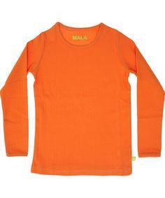 Mala basis oranje t-shirt in geribde katoen. mala.nl.emilea.be