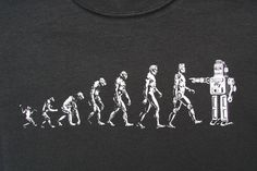 Go Back Funny Evolution T Shirt art by Emek. In 3 by MatleyInk