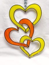 Intertwined Hearts Stained Glass Suncatcher!
