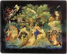 Картинки по запросу Лукоморье лаковая миниатюра