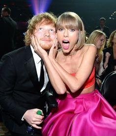 Pin for Later: Tout Ce Qu'il S'est Passé en Coulisses Lors des Grammy Awards Taylor Swift et Ed Sheeran