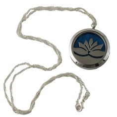 - Diffuser Necklace holds your essential oil scents all day long. - Includes 5 colors of felt inserts - Magnetic closure closes easily and securely - Beautiful Lotus Flower design - Just add a drop of