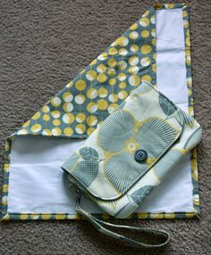 On the go diaper clutch