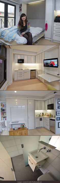 Micro-living: Canada's smallest apartment the size of a walk-in closet.