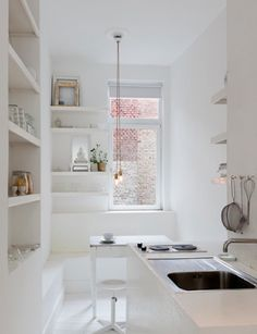 White kitchen. #minimalist