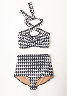 Stand Out in the Sand Two-Piece Swimsuit | Mod Retro Vintage Bathing Suits | ModCloth.com
