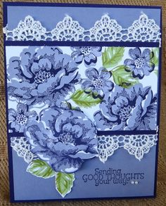 Stippled Blossom and Lace by lkarr309 - Cards and Paper Crafts at Splitcoaststampers