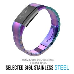 AURORA STEEL LINKS Wristband Band Bracelet Strap Accessories For FITBIT CHARGE 2 | eBay