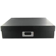 "12"" x 12"" Black Storage Box"