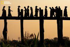 U Bien Bridge Crossing