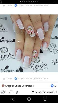 Hair And Nails, My Nails, Daisy Nails, French Nail Art, Nail Art Diy, Nail Arts, Manicure And Pedicure, Girly Things, Nail Art Designs
