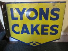 A great site to find real Vintage Advertising Signs now for sale, Vintage Advertising Signs listed on the UK's leading antiques directory. Vintage Advertising Signs, Vintage Advertisements, Industrial Signs, Enamel, Cakes, Antiques, Antiquities, Vitreous Enamel, Antique
