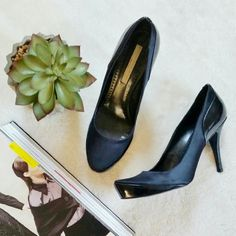 Stella McCartney Black Vegan Pumps/Heels 38 Stella McCartney high heels in size 38. Made with silk and vegetarian leather. Gently used few times. Runs slightly small so would fit US size 7.5 the best. 3 inch heels. No trade please. Stella McCartney Shoes Heels