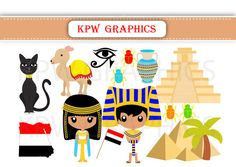 Egypt Dolls of the World Clipart PNG Personal & by KPWgraphics