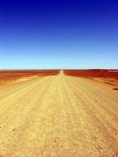 Outback Australia - long dusty road
