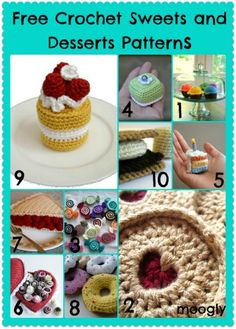 Amigurumi Crochet Play with Your Food: 40 Free Amigurumi Patterns to Crochet Today! - Amigurumi are fun to make, and crochet food items make great gifts! Here are 40 unique crochet patterns - it's the biggest roundup I've done to date! Crochet Cake, Crochet Fruit, Crochet Food, Crochet For Kids, Diy Crochet, Crochet Crafts, Crochet Owls, Crochet Animals, Kawaii Crochet