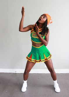 Halloween is actually my favorite holiday season ever, and also the have for many folks also been their most favorite decade of all time. Jenelope - bring it on Halloween costume. Cute Halloween Costumes For Teens, Costumes For Teenage Girl, Black Girl Halloween Costume, Hallowen Costume, Costume Ideas, Cheerleader Halloween, Diy Halloween, Scream Halloween, Costume Makeup