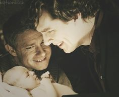 Sherlock meeting baby Gracie for the first time <3 <--- I literally squealed when I saw this.